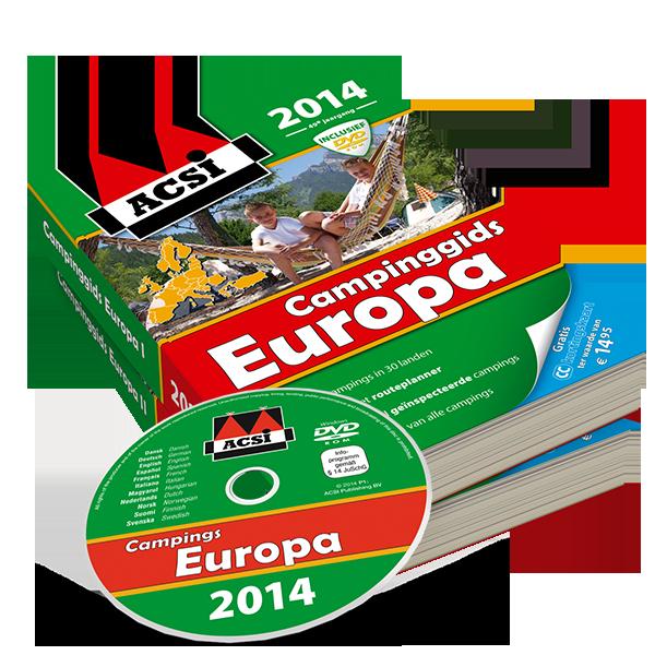 ACSI Campinggids Europa + DVD 2014