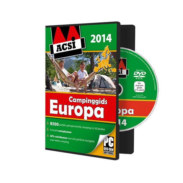 ACSI Campinggids DVD Europa 2014