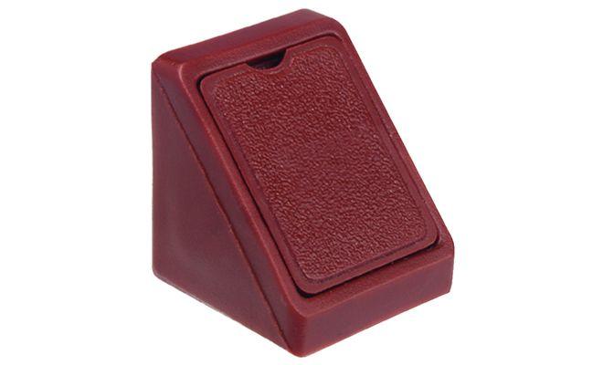 Hoekverbinder mini met kap wit / bruin