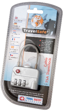 TravelSafe Bagage slot TSA (met kabel)