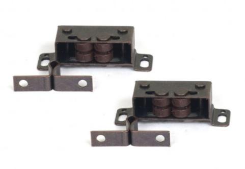 Dubbele Rolsnapper metaal brons