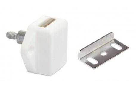 Drukknop minislot kunststof wit 15mm