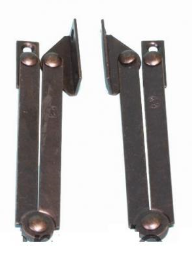 Kastklephouder links + rechts brons