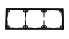 Afstandsraam zwart 3-vak laag model t.b.v. Systeem 20.000