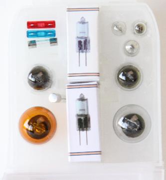 Caravanset reserve lampen, zekeringen en G4 Halogeen