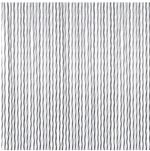 Travellife deurgordijn Crystal wit/grijs 60x190cm