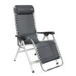 Crespo Relaxstoel AL-232 incl. Hoofdkussen donker grijs (kleur 40)