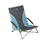 Bo-Camp Beach chair Compact Blauw/grijs