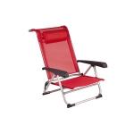Red Mountain - Strandstoel - Aluminium - Deluxe - Rood