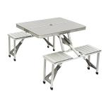 Bo-Camp Family tafel Aluminium Inklapbaar - Grijs