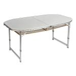 Bo-Camp - Tafel - Premium - Ovaal - Koffermodel - 150x80 cm