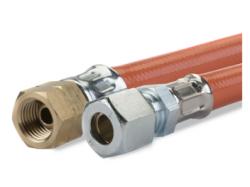 Gimeg gasslang PVC 1/4 inch links X 8/10 1m