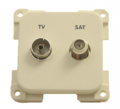 TV stekkerdoos Presto + F-connector