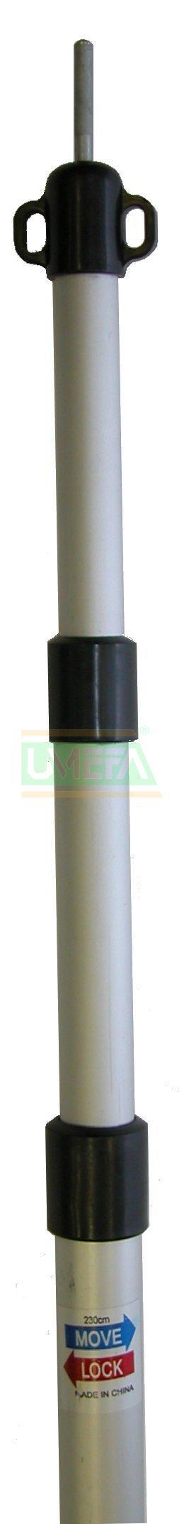 Traploos Verstelbare Alu-Tentstok 28mm; 90-230cm