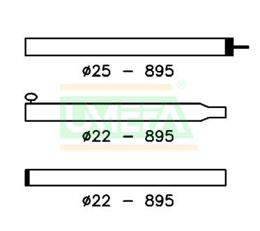 Tentstok Aluminium 25/22 mm; 170-260 cm