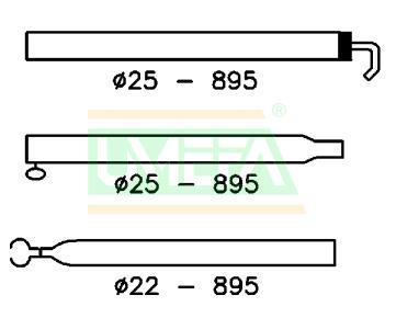 Extra Dakligger Aluminium 25/22 mm; 170-260 cm