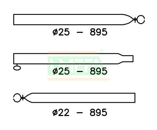 Verandastang Aluminium 25/22 mm; 170-260 cm