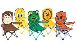Bo-Camp Kinderstoel Opvouwbaar met Safety-Lock Dierenprint