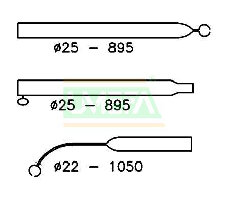 Voortentspanstok Aluminium 25/22 mm; 210-275 cm