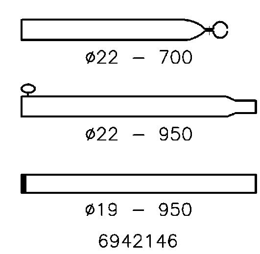 Stormstok Staal 22/19 mm; 170-250 cm