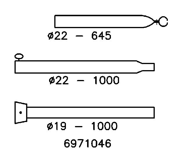 Stormstok Staal met klapvoet 22/19 mm; 170-250 cm