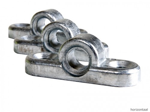 Framebevestigingsoog aluminium horizontaal