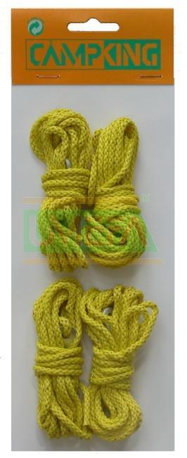 Campking scheerlijn neon geel 3 mm x 4 mtr
