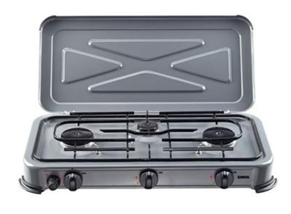 Gimeg kooktoestel 3-pits deluxe grijs