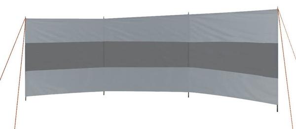 BC Windscherm 3-vaks grijs